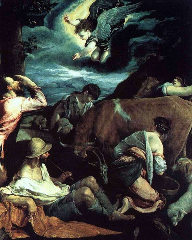 Annunciation to the shepherds by Jacopo Bassano