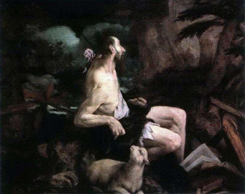 John the Baptist in the Desert by Jacopo Bassano