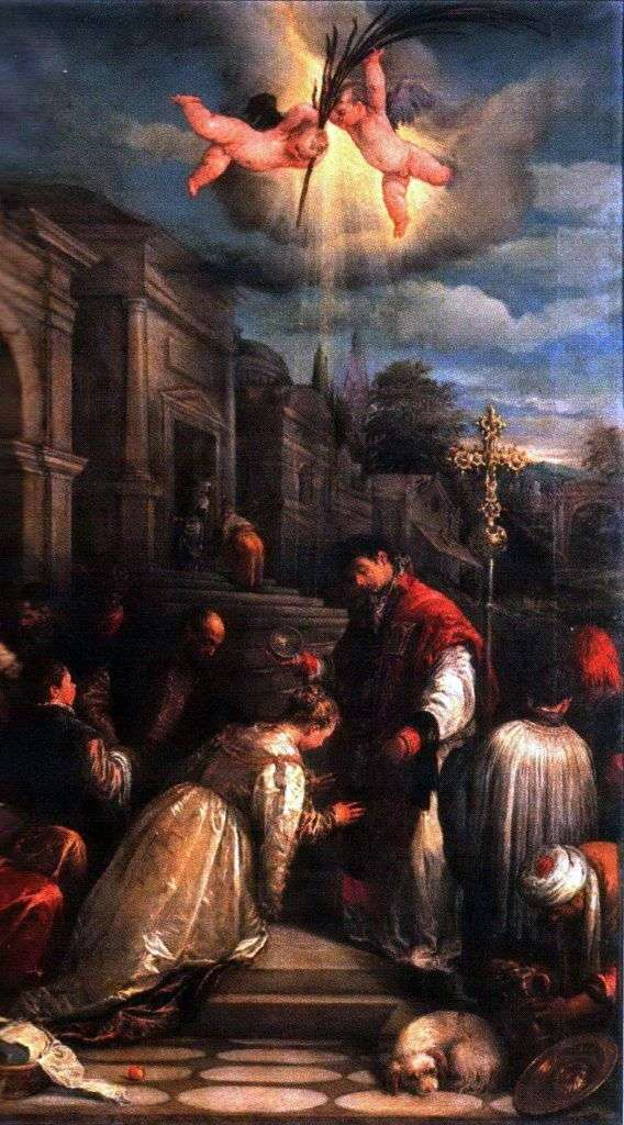 The Baptism of Saint Lucilla by Jacopo Bassano