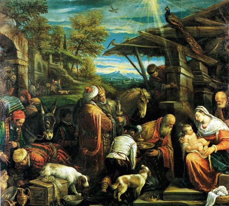 Adoration of the Magi by Jacopo Bassano