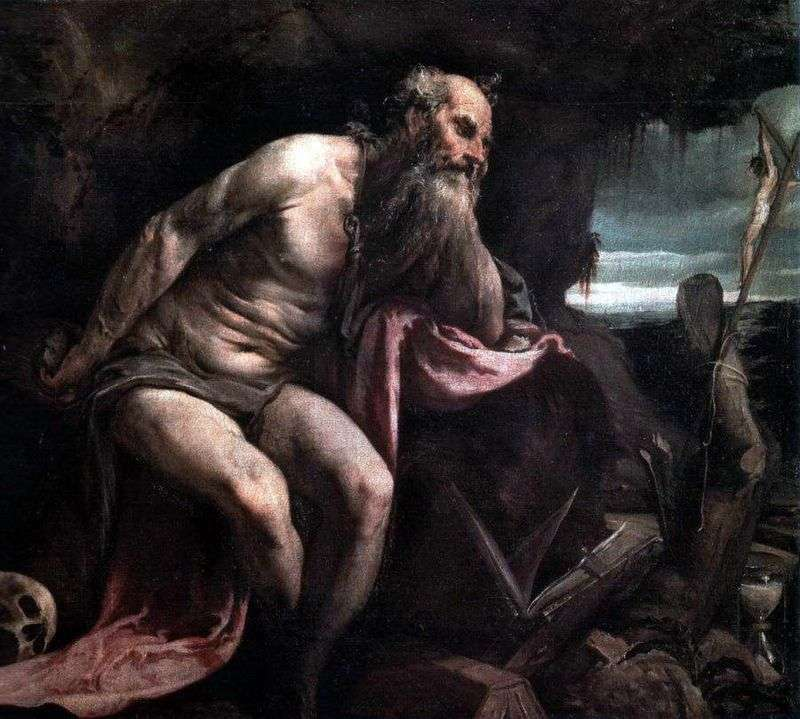 St. Jerome in the desert by Jacopo Bassano