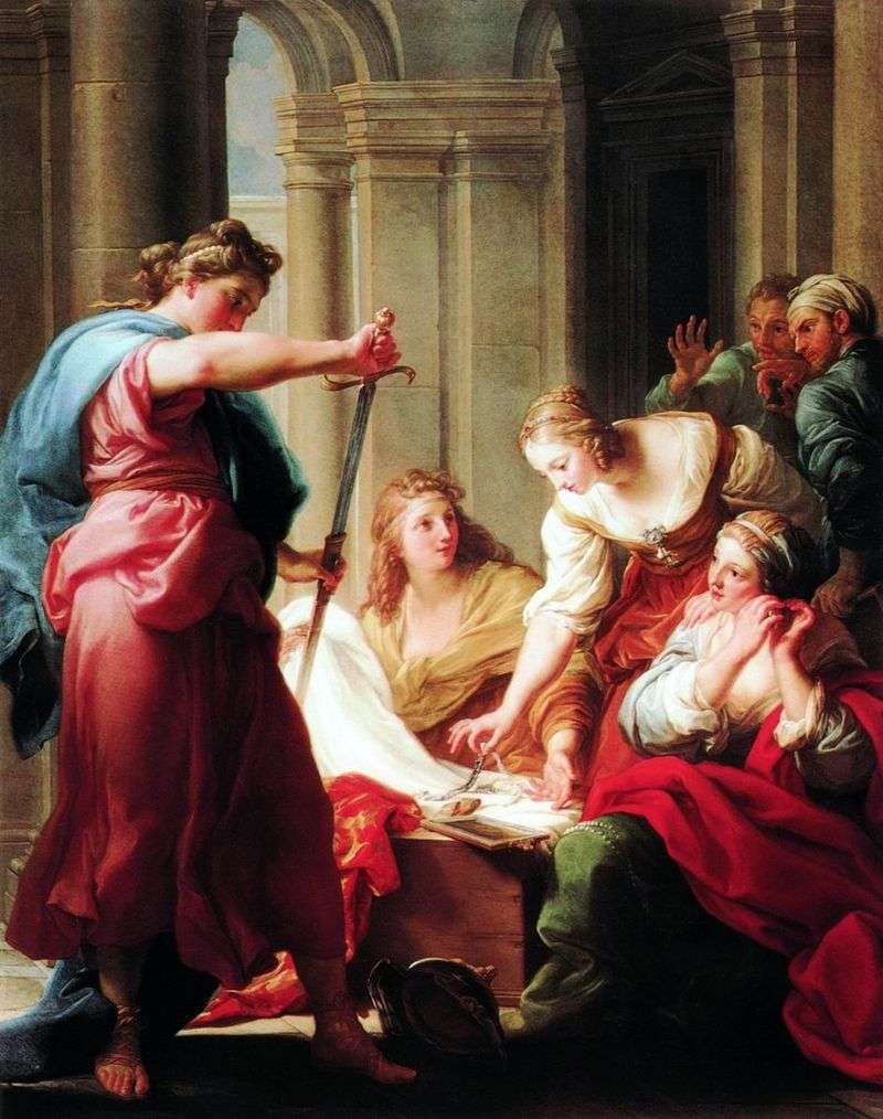 Achilles at the daughters of King Lycomed by Pompeo Batoni