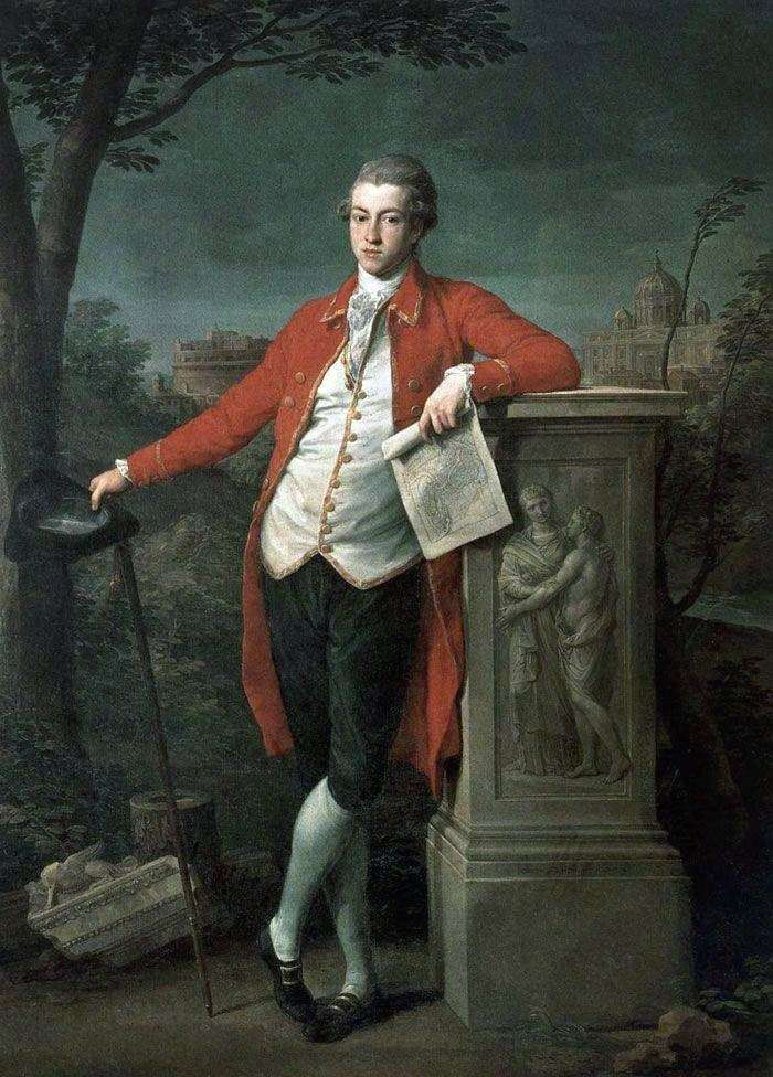 Prince in Rome, Charles Roberts by Pompeo Batoni