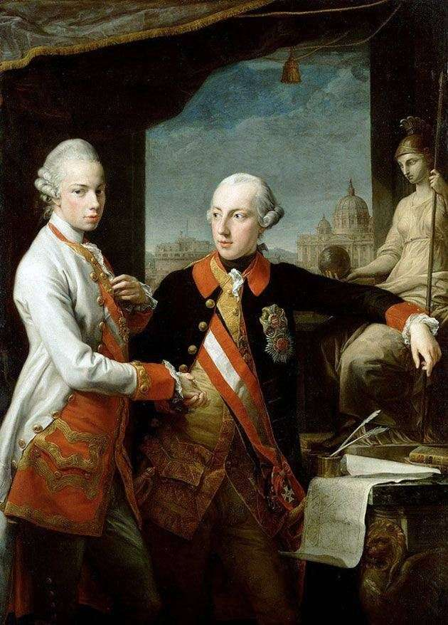 Portrait of Emperor Joseph II and Leopold of Tuscany by Pompeo Batoni