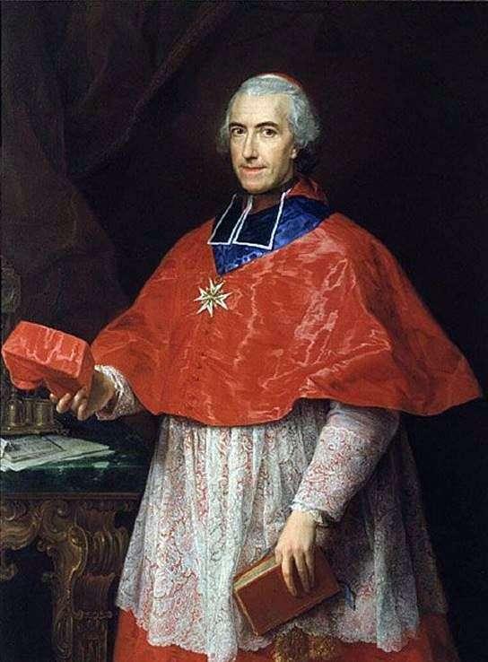 Portrait of Cardinal Jean François de Rozheshuar by Pompeo Batoni
