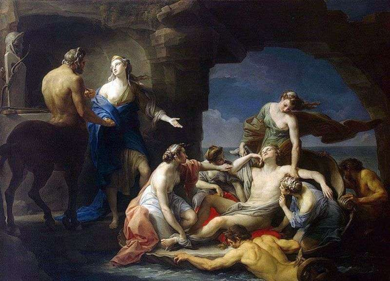 Chiron returns Achilles to his mother Thetis by Pompeo Batoni