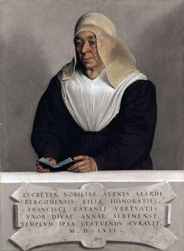 Abbess Lucretia Allardi Vertova by Giovanni Battista Moroni