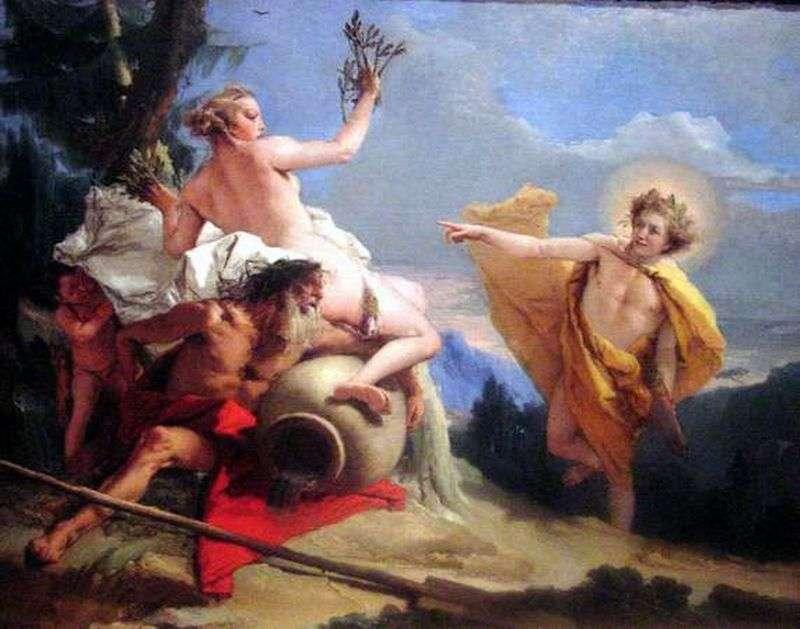 Apollo by persecuting Daphne by Giovanni Battista Tiepolo