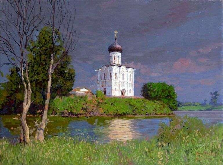 The Church of the Intercession on the Nerl by Sergey Baulin
