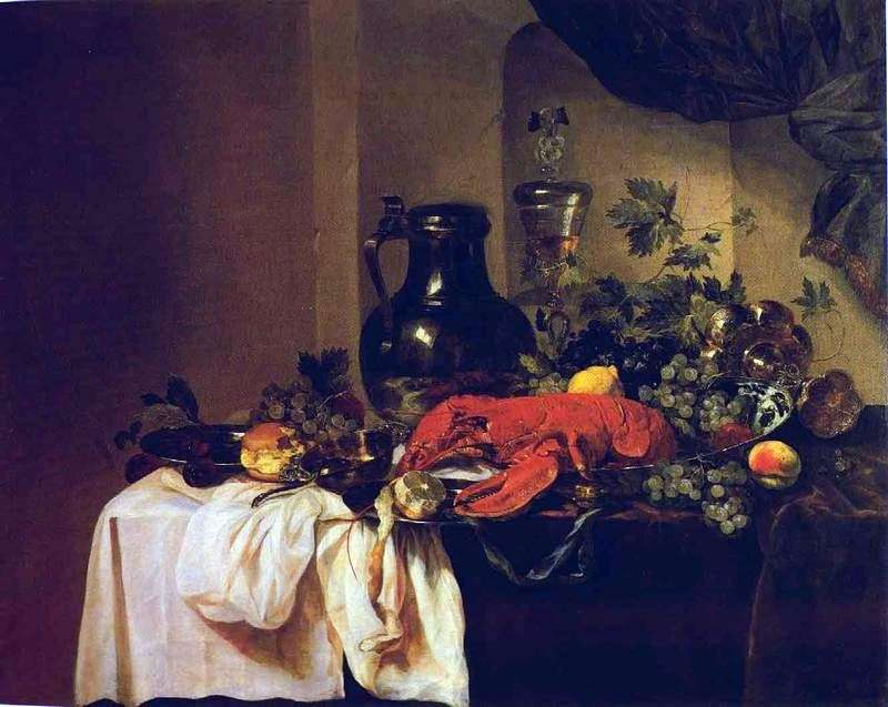 Still Life with Lobsters by Abraham Beyeren