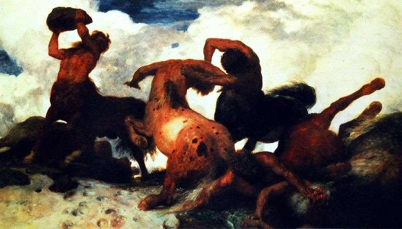 The Battle of Centaurs by Arnold Becklin