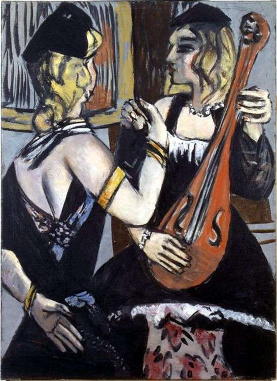 Actresses in the cabaret by Max Beckmann