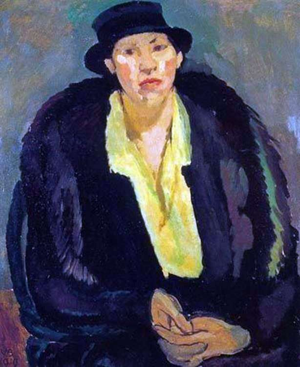 Woman in Furs   Vanessa Bell