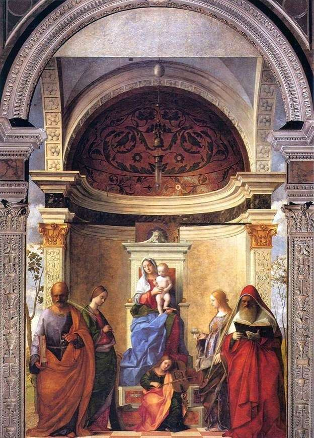 Madonna with Child and Saints by Giovanni Bellini