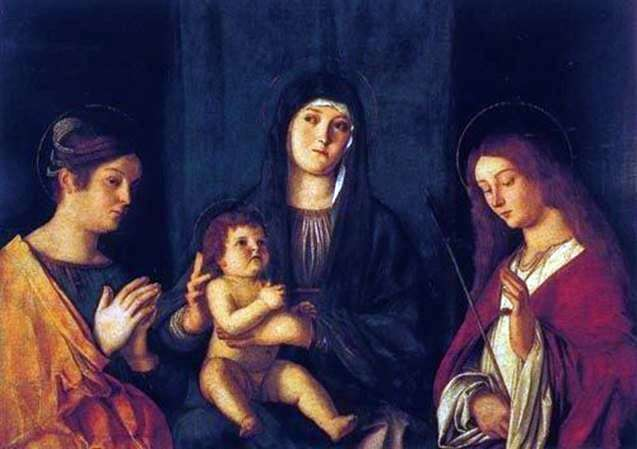 Madonna with the Child, Saint Catherine and Saint Ursula by Giovanni Bellini
