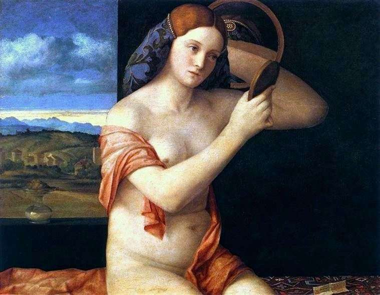 Young woman behind the toilet by Giovanni Bellini