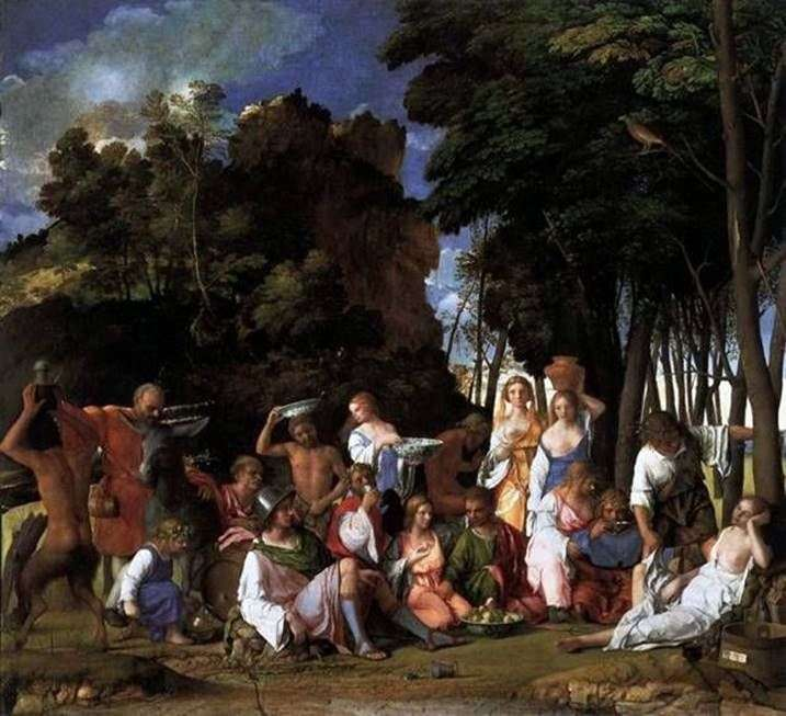 The Feast of the Gods by Giovanni Bellini