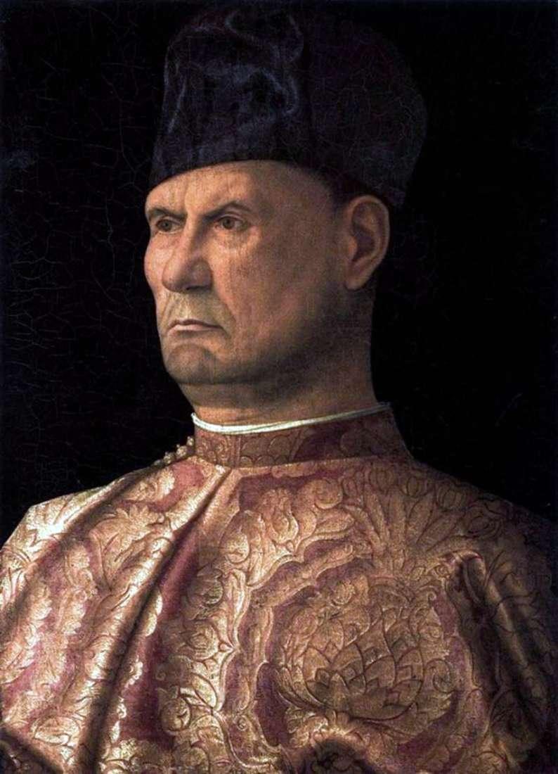Portrait of Condottier Giovanni Emo by Giovanni Bellini