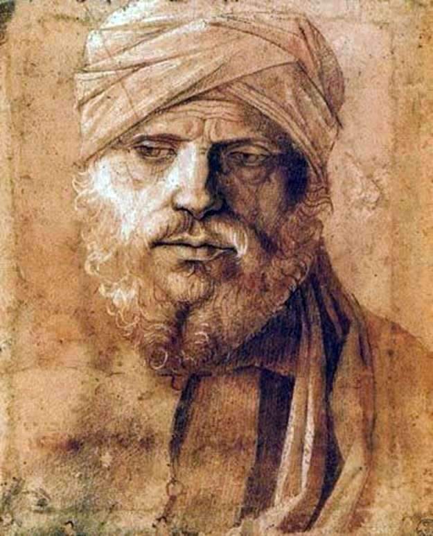 Portrait of a man in a turban by Giovanni Bellini