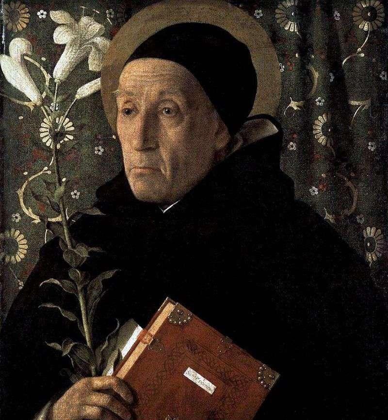 Portrait of Fra Teodoro da Urbino by Giovanni Bellini