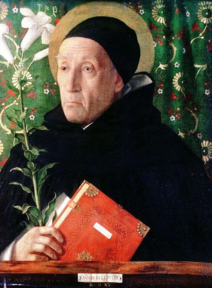 Fra Teodoro of Urbino in the image of St. Dominica by Giovanni Bellini