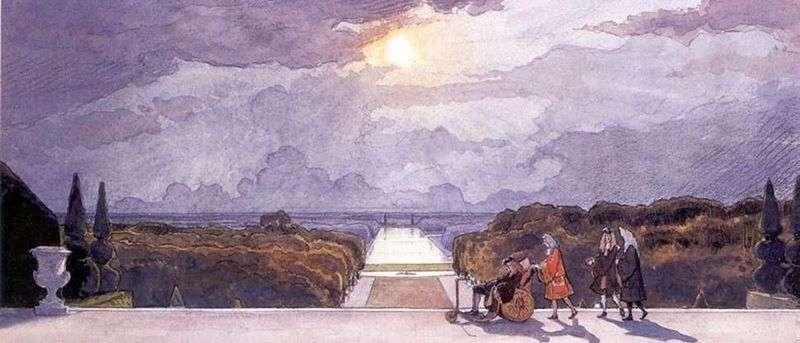 Versailles. The Kings Walk by Alexander Benois