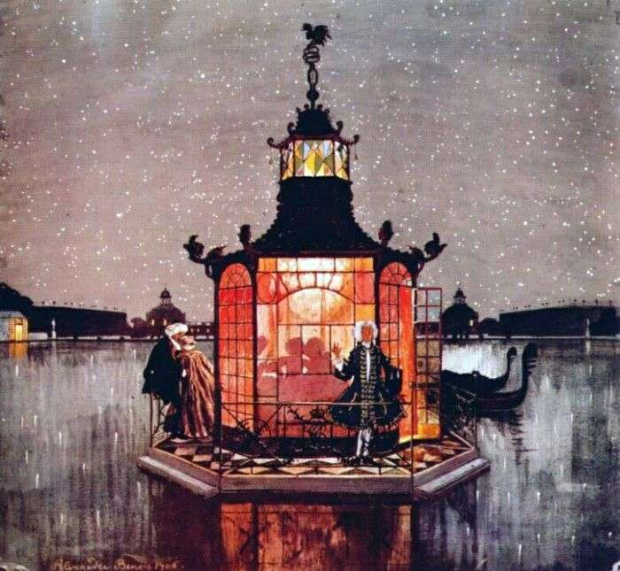 Chinese pavilion Revnivets by Alexander Benois