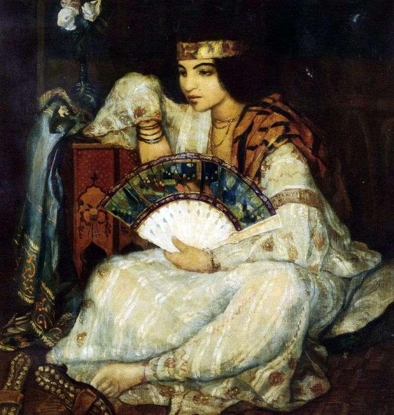 Girl with a Fan by Emil Bernard