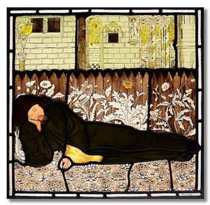 Sleeping Chaucer by Edward Burne Jones