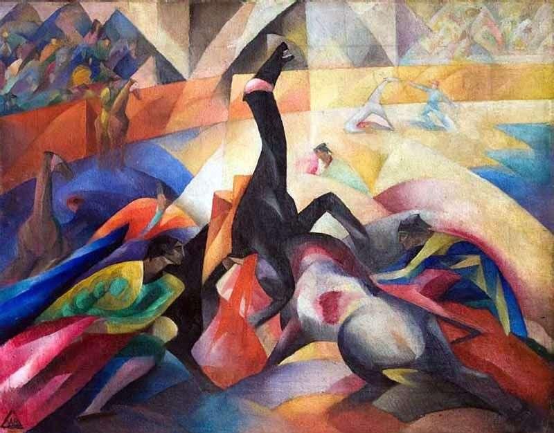 Bullfighting by Vladimir Bekhteev