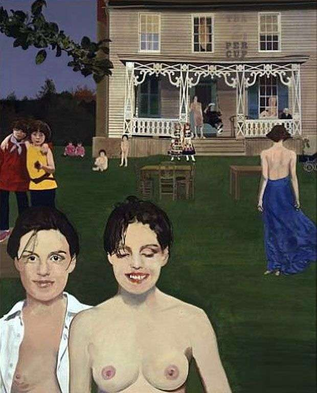 Twins in the Tea Garden by Peter Blake