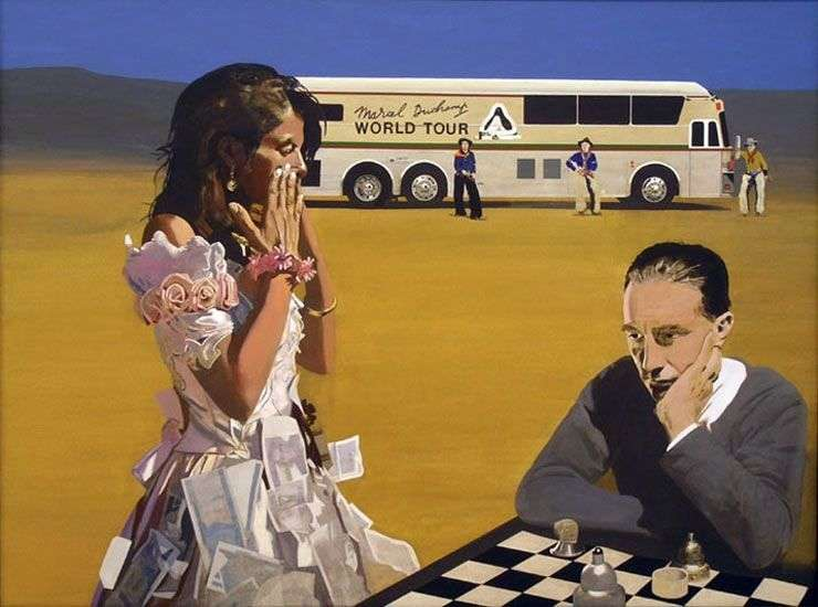 Playing chess with Tracy by Peter Blake
