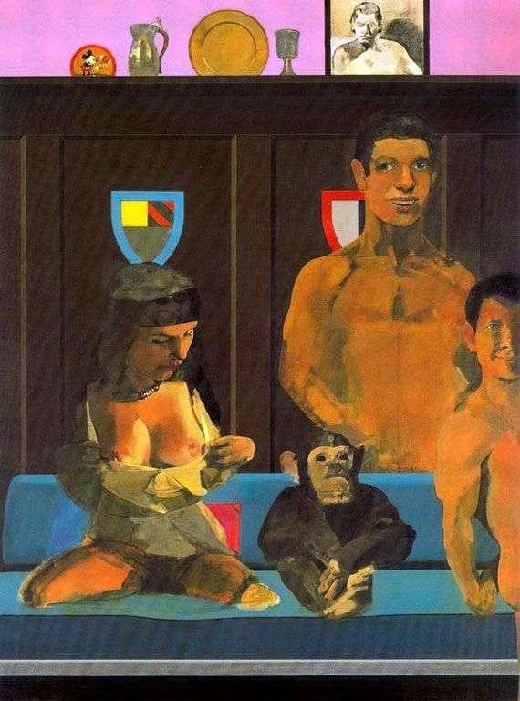 Tarzan, Jane, baby and Chita by Peter Blake