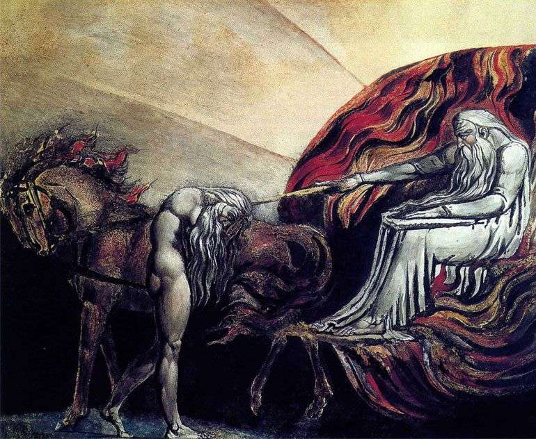 Adam before the court of God by Ulam Blake