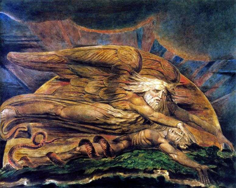 Elohim creates Adam by William Blake