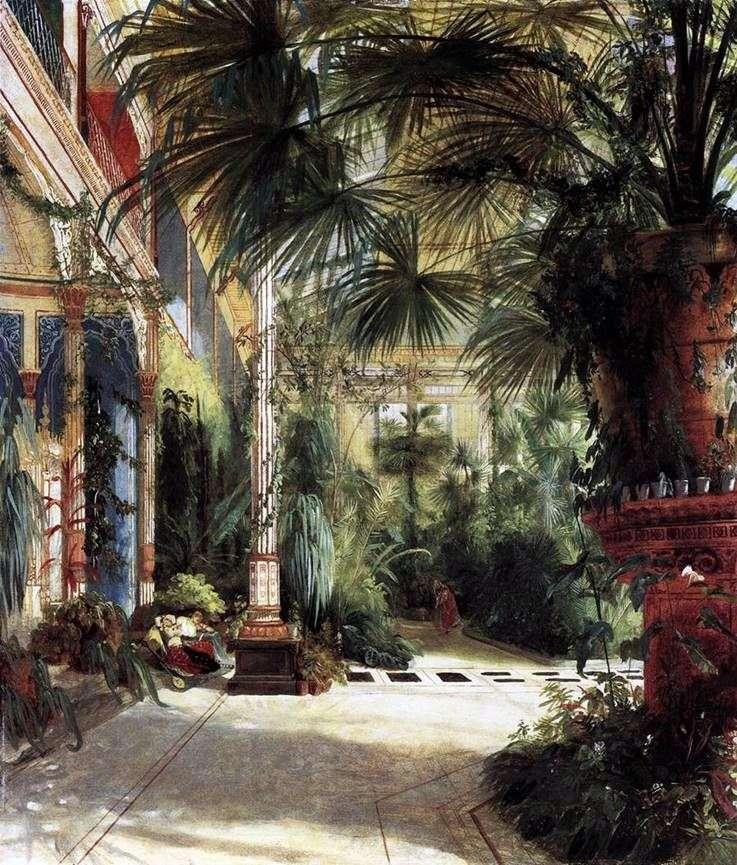 The Palm Court of Friedrich Wilhelm by Carl Eduard Ferdinand Blechen