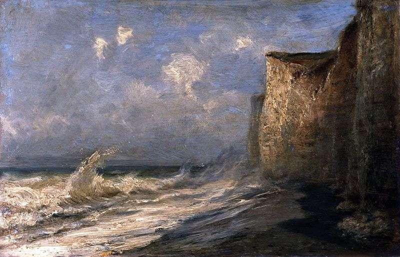 Etretat. Low tide (France) by Alexey Bogolyubov