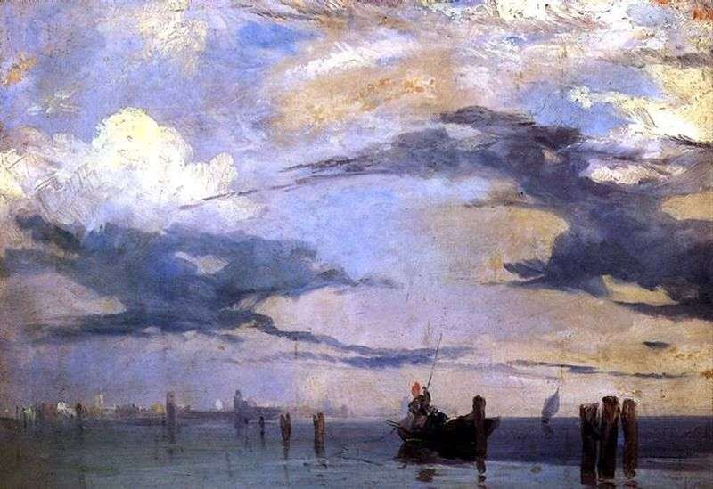 The Venetian lagoon by Richard Parkes Bonington