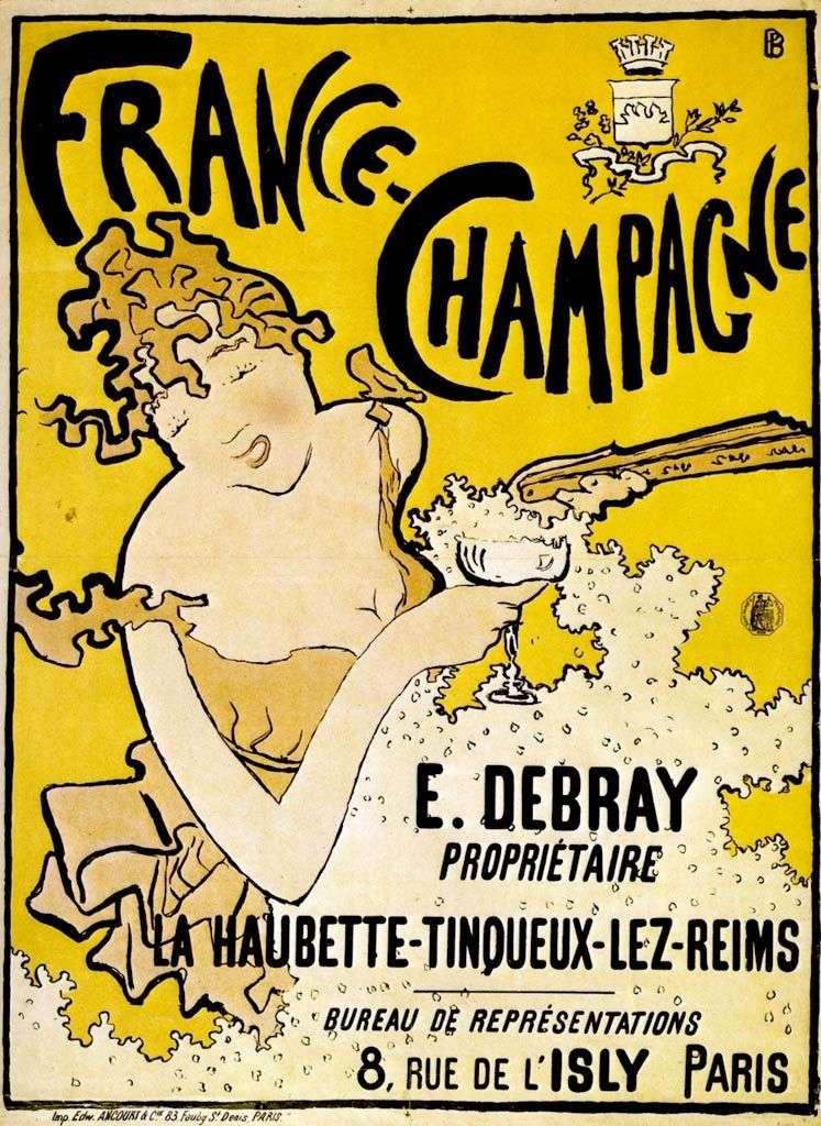 Poster of French Champagne by Pierre Bonnard