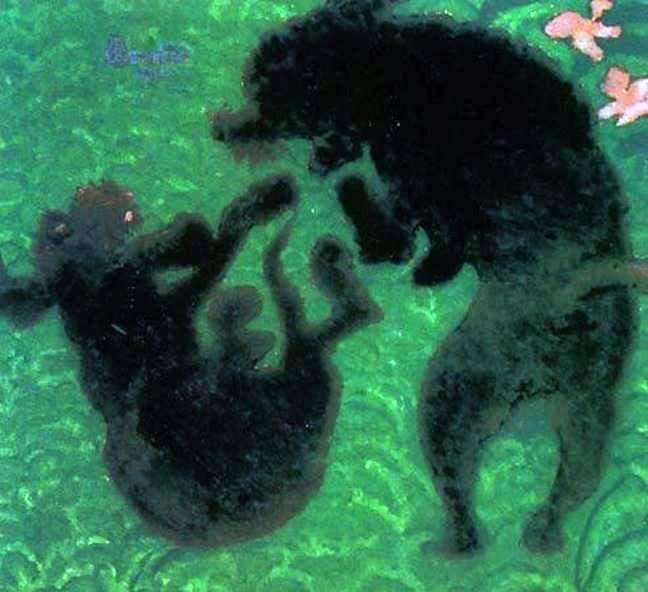 Two poodles by Pierre Bonnard