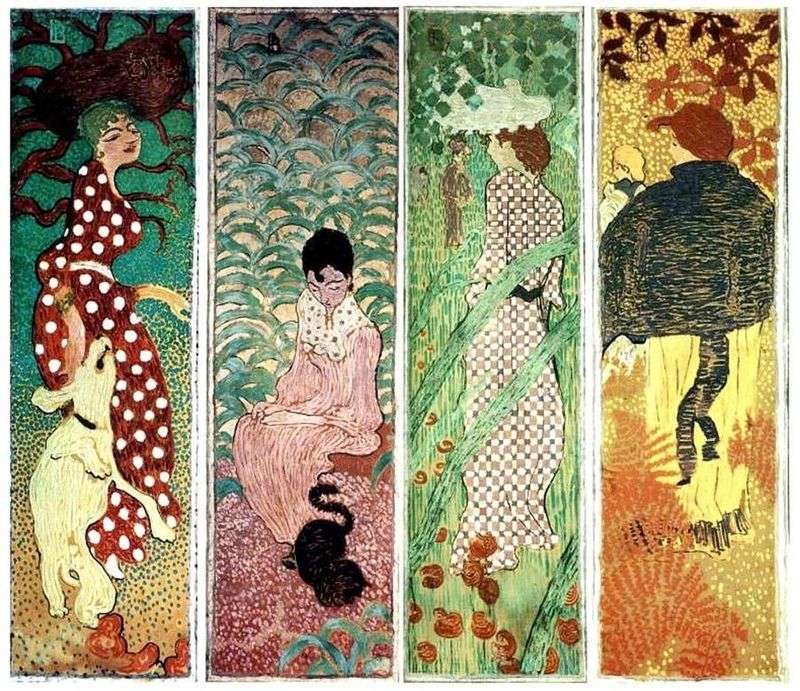 Women in the Garden by Pierre Bonnard