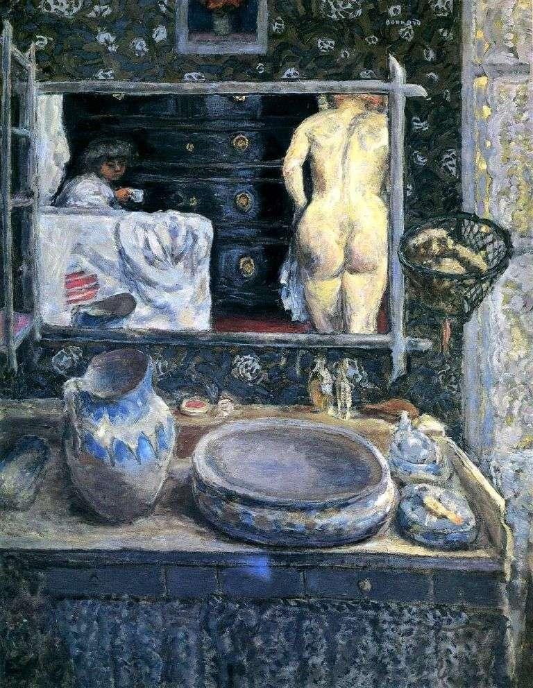 Mirror over the sink by Pierre Bonnard