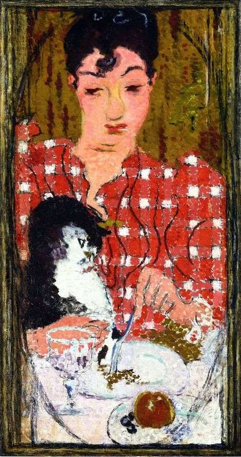 Checkered Blouse by Pierre Bonnard
