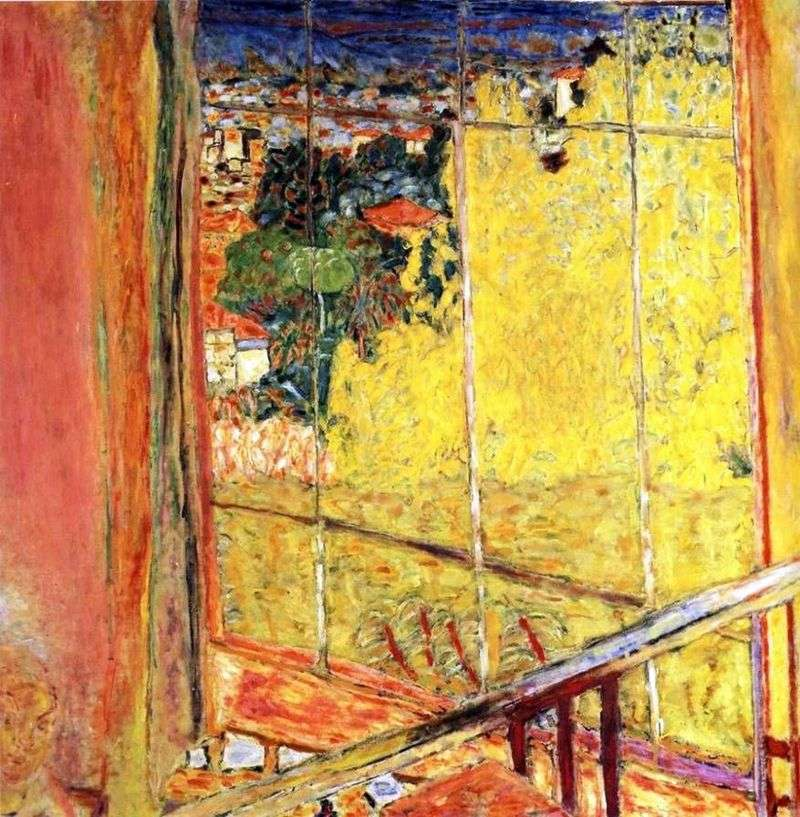 Workshop with mimosa by Pierre Bonnard