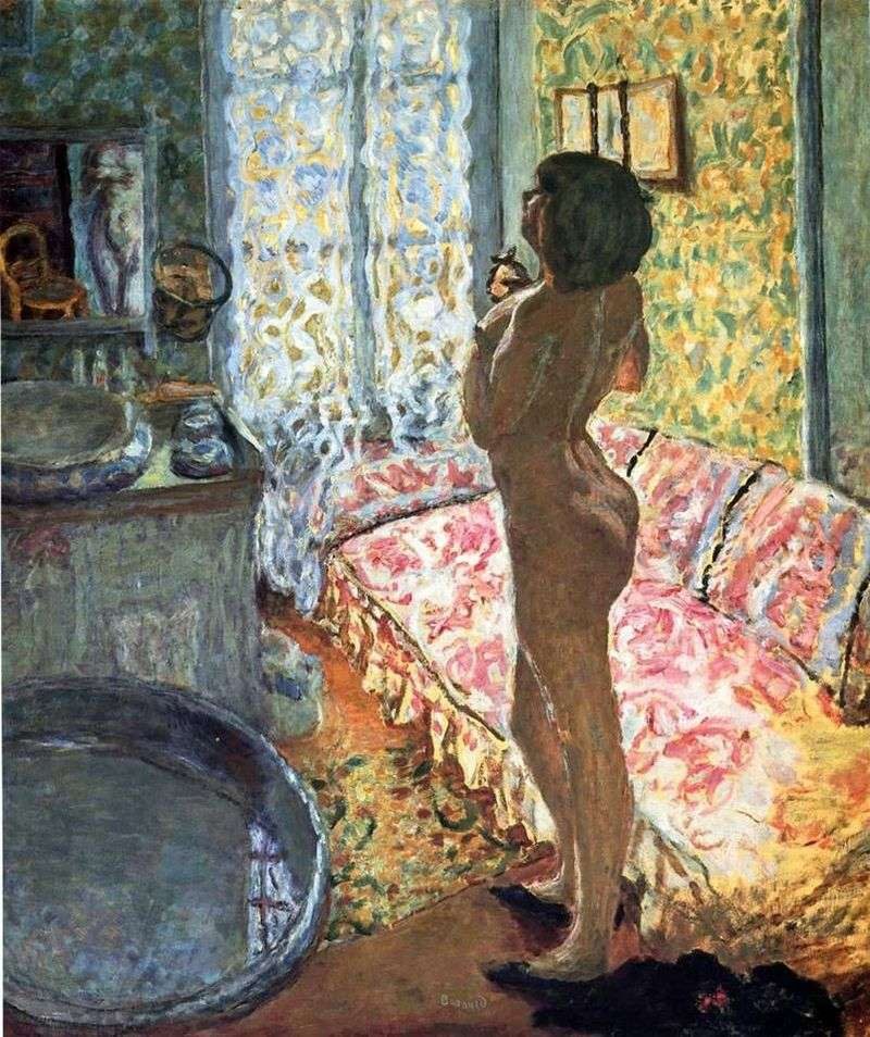 Nude model in a counterpost by Pierre Bonnard