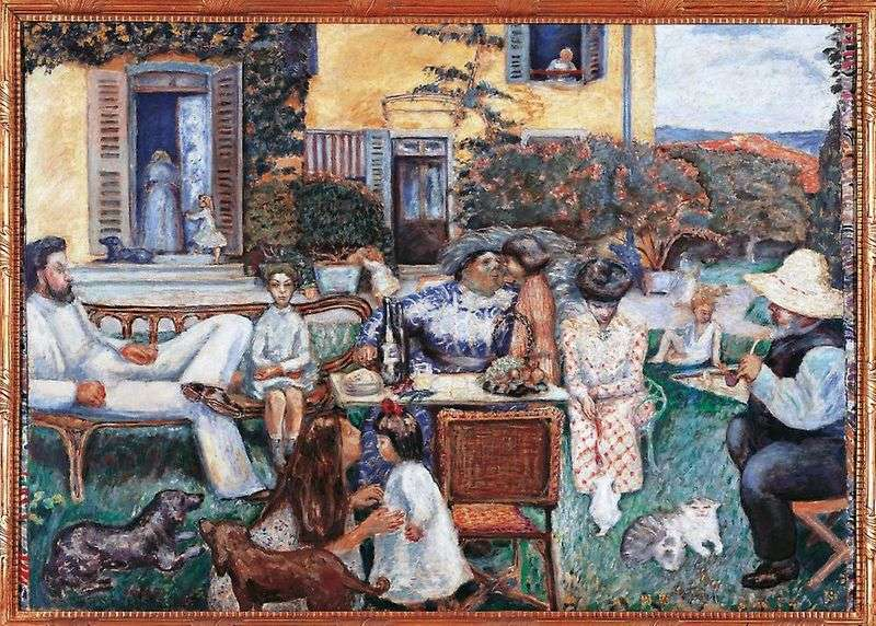 Family on the terrace by Pierre Bonnard