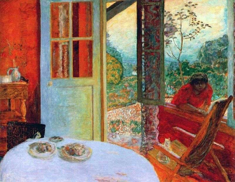 Dining room in a country house by Pierre Bonnard