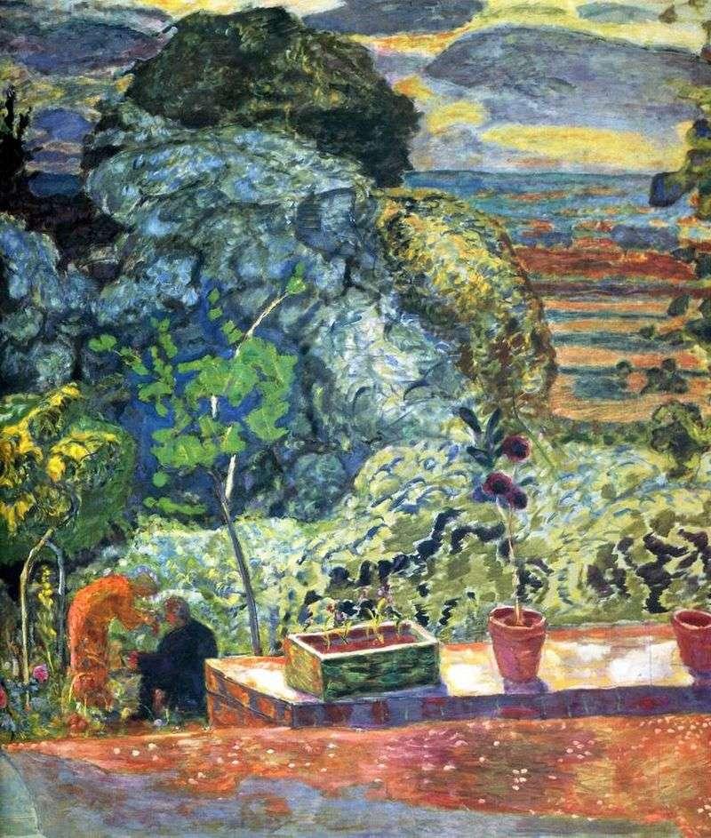 Terrace by Pierre Bonnard