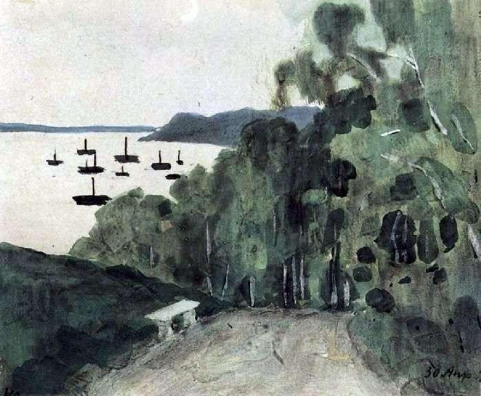 The Volga. Nizhny Novgorod by Victor Borisov Musatov