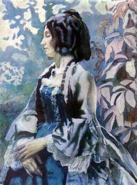 The Lady in Blue by Victor Borisov Musatov